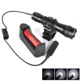 Diodo emissor de luz Rechargeable Flashlight do CREE T6 10W 18650 Remote Switch