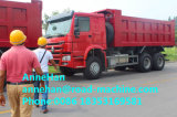 Тележка сброса привода грузовика 6X4 Dumper HOWO сверхмощная с дном Hyva поднимаясь