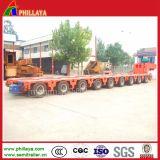 As máquinas transportam o reboque modular hidráulico do equipamento do dever de /Heavy