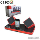 2.4G Home Theater Audio Wireless Speaker voor (rood/zilveren) iPhone/iPad