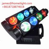 8*10W 이동하는 맨 위 가벼운 /DMX 이동하는 광속 거미를 위한 RGBW LED 거미 광속 점화