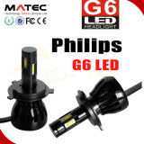 Bulbos H4 96W 9600lm do farol do farol do diodo emissor de luz da Philips do carro do poder superior G6