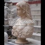 Beau buste antique de travertin pour le métier Ms-2387