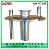 6 tampa personalizada do aço inoxidável da polegada Ss304 tri trevo sanitário