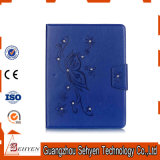 파란 다이아몬드에 의하여 돋을새김되는 패턴 카드 홀더 편평한 iPad 5 상자