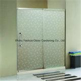 オフィス、シャワー室の浴室のための3-19mm和らげられた曇らされたガラスの酸のエッチングガラス