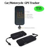 Sos 단추 (T15)를 가진 차 또는 기관자전차 GPS 추적자