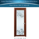 Klassisches Aluminium eingehängte Türen für Innenbadezimmer-Dekoration mit Blumen