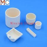 crogiolo di ceramica dell'allumina di rendimento elevato 95 99.7