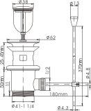 Dreno de bronze Pull-up acessório da bacia do encanamento com Rod