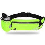 Los ajustadores negros adelgazan el mini bolso corriente de la cintura con la pretina ajustable reflexiva resistente de agua, iPhone apto de Smartphone