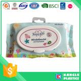 タイのハンドルが付いているプラスチック赤ん坊のおむつ袋