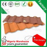 La pierre ébrèche le matériau de construction en acier enduit de /Guangzhou de tuile, tuile de toit enduite par pierre en aluminium colorée en métal de plaque en acier de zinc