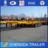 Recipiente dos eixos 3-Axle 40ft do ISO de China reboques de esqueleto do chassi do tri