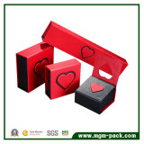 Cadre de bijou de papier rouge de carton fait sur commande