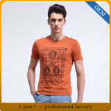 T-shirts estampés par coton fait sur commande d'hommes de qualité