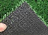 Grama artificial do esporte liso do tênis da forma 10mm com GV