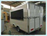 Visualizzazione del camion dell'alimento del BBQ del gas che vende il carrello del Mobile dello spaccio di bevande dell'automobile dell'alimento