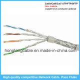 Teste do solha da passagem do cabo da rede Ethernet de RJ45 CAT6