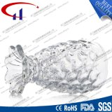 выгравированная 230ml ясная стеклянная форма рыб для сока (CHM8439)