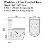 워터마크 승인되는 목욕탕 Closestool 위생 상품 세라믹 화장실 (6010)