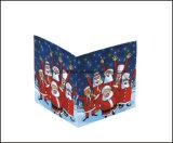 Cubo modificado para requisitos particulares promocional barato de la nota del cubo de la nota del papel del diseño de la Navidad