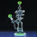 De koelste Spiraalvormige Kringloop Rokende Waterpijpen van het Glas van de Waterpijp (S-GB-313)