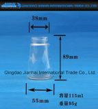 Tarro del atasco de la botella de cristal de la categoría alimenticia con el modelo