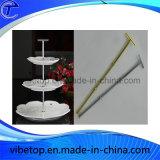 Maniglie all'ingrosso del basamento della torta del metallo della fila di abitudini 2 o 3