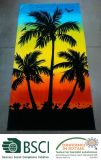 Cotone 100% Reactive Printed Beach Towel di Midnight Palm Pattern