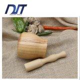 음식 나물 향미료 마늘 대나무 부엌 공구를 분쇄하는 박격포 방앗공이