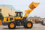 Carregador de rodas grandes de 5 toneladas com controle piloto e A / C, balde de rocha, balde de carvão