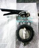 Valvola a farfalla (SW) duttile del disco del ferro Ss304 di Shiwen con la leva
