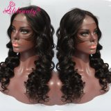 100% perruque indienne Virgin Hair Loose Wave pleine perruque avec ligne naturelle