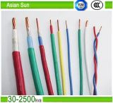 cabo elétrico isolado XLPE do PVC de 450/700V Thw 12AWG