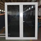 مزدوجة زجاجيّة بيضاء لوح مسحوق يكسى ألومنيوم مزدوجة إطار شبّاك باب [كز040]