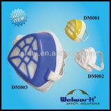 Mascherina di polvere Plastica-Sgranata respiratore protettivo chimico del gas di tre stili