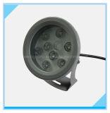 Projector da inundação do diodo emissor de luz de W.P. 65 do poder superior 9 com certificação de RoHS do Ce