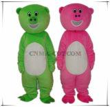 Traje verde e cor-de-rosa da boa venda do porco da mascote