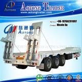 La Cina Manufactur 3/4/5 di asse 50/80/100 di tonnellata di trasporto pesante della macchina della base piana semi di rimorchio basso del camion per la vendita calda