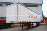 di 3-Axle Van Type White della tenda rimorchio laterale semi