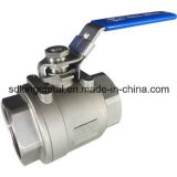 2PC Flanged Ball Valve met Direct Mounting PAD (DIN)