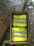 Veste reflexiva do corredor da segurança do amarelo da amostra livre para a proteção da segurança de estrada