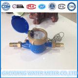 Medidor de água de bronze do pulso do multi jato