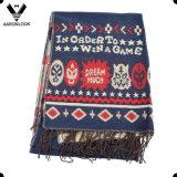Акриловый подгонянный сплетенный шарф Knit жаккарда восхитительный