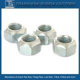 크기 M8 DIN980V 탄소 강철 모든 금속 자물쇠 육 견과