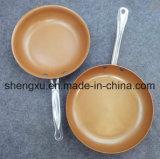De met een laag bedekte Pan van de Bouillonketel van de Wok van het Aluminium Non-Stick voor Cookware sx-Yt-8