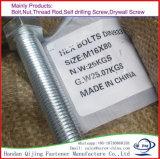 Boulon d'hexa de l'acier du carbone de dispositifs de fixation de plaque de zinc DIN933