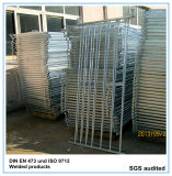 Galvanisierte 7 Rail Sheep Hurdle mit Loops