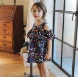 Платья шнурка Tassel хлопка одежд детей без бретелек девушок